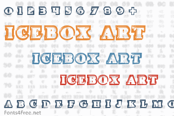 Icebox Art Font