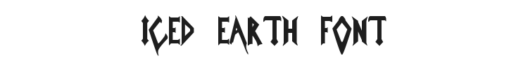 Iced Earth Font Preview