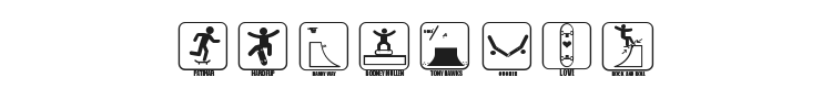 Iconos Skate Font