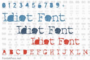 Idiot Font