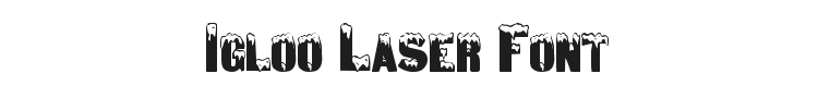 Igloo Laser Font Preview