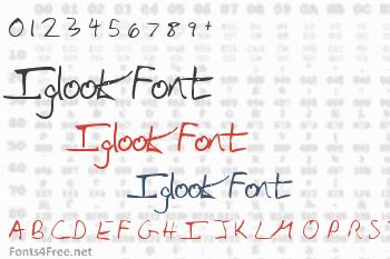 Iglook Font