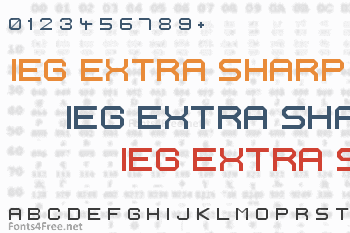 Ignis et Glacies Extra Sharp Font