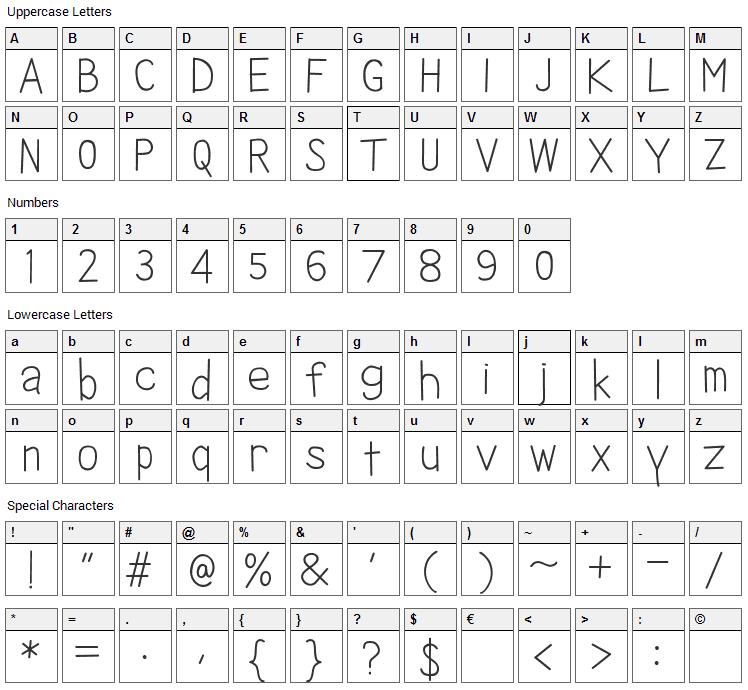 Ikan Besar Font Character Map