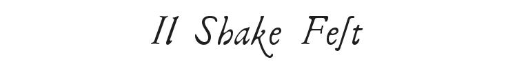 Il Shake Fest Font Preview