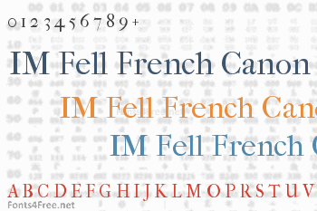 IM Fell French Canon Font