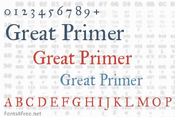 IM Fell Great Primer Font