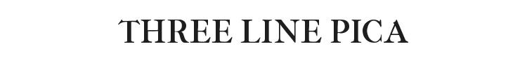 IM Fell Three Line Pica Font