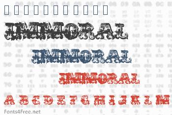Immoral Font