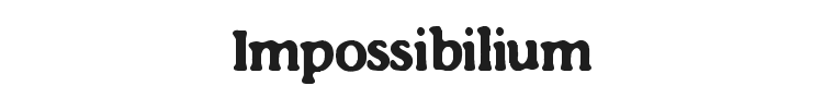 Impossibilium Font Preview