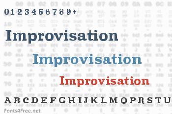 Improvisation Font