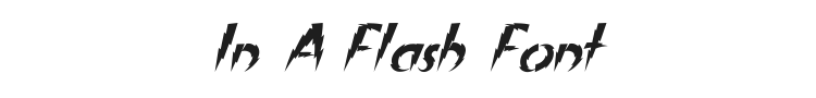 In A Flash Font