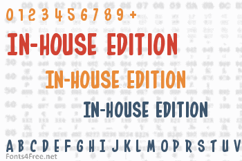 In-House Edition Font