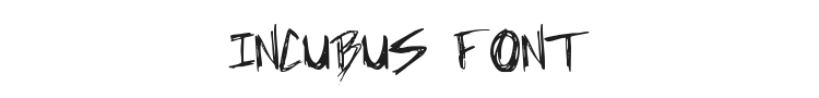 Incubus Font Preview