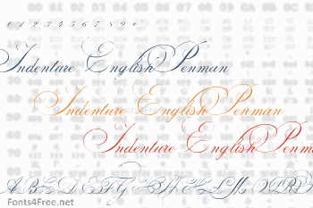 Indenture English Penman Font