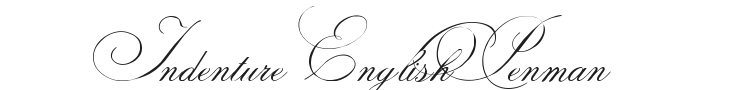 Indenture English Penman Font Preview