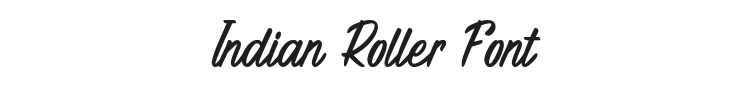 Indian Roller Font Preview