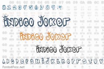 Indigo Joker Font