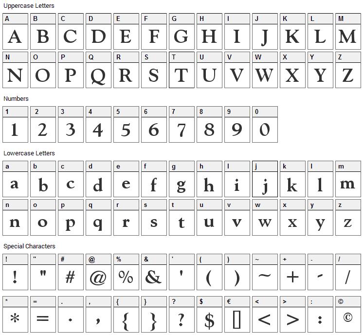Indira K Font Character Map