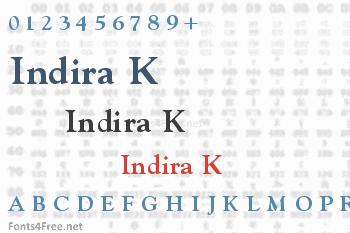 Indira K Font