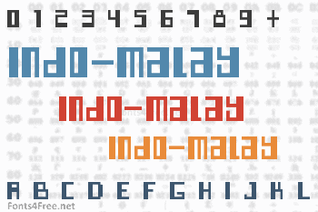 Indo-Malay Confrontation Font