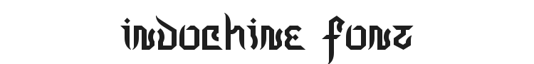 Indochine Font Preview