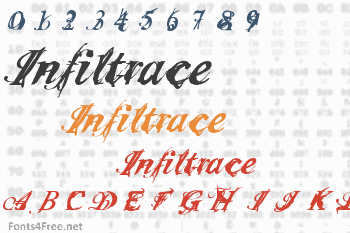 Infiltrace Font
