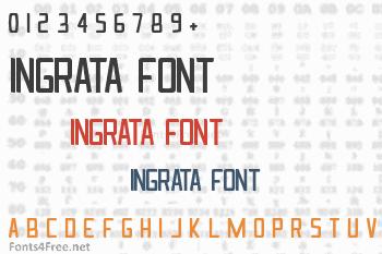 Ingrata Font