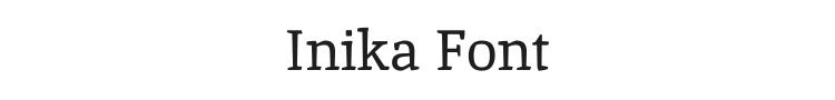 Inika Font Preview