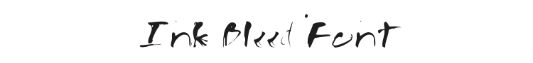 Ink Bleed Font Preview