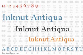 Inknut Antiqua Font