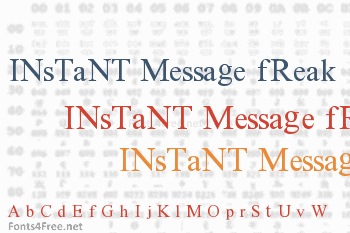 Instant Message Freak Font