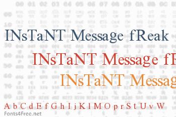 Instant Message Freak Font