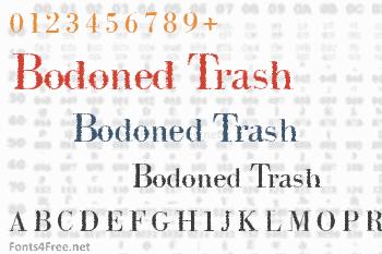 Intellecta Bodoned Trash Font