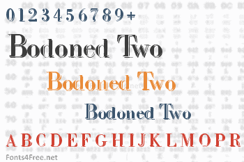 Intellecta Bodoned Two Font