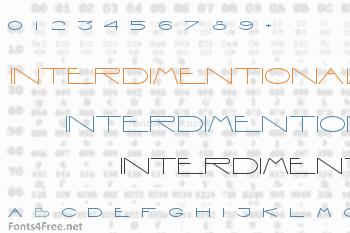 Interdimentional Font