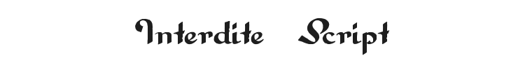 Interdite Script Font Preview