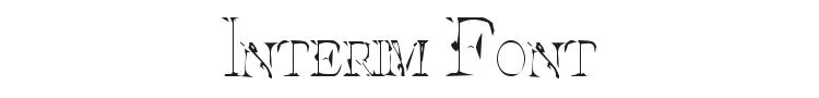 Interim Font Preview