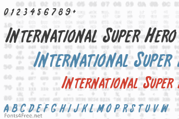 International Super Hero Font