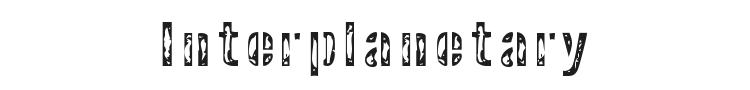 Interplanetary Crap Font