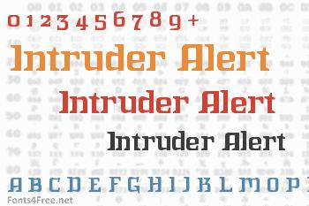 Intruder Alert Font