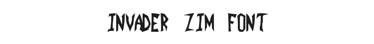 Invader Zim Font Preview