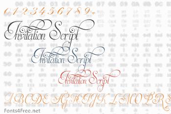 Invitation Script Font