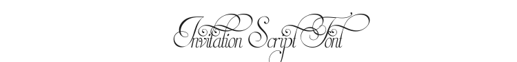 Invitation Script Font Preview