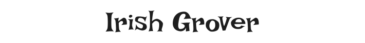 Irish Grover Font Preview