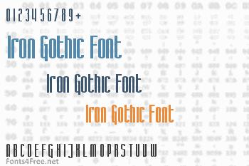 Iron Gothic Font