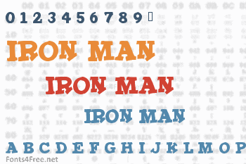 Iron Man Font