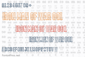 Iron Man Of War 001 Font