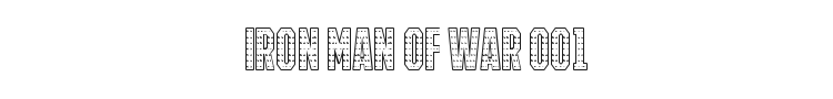 Iron Man Of War 001 Font Preview