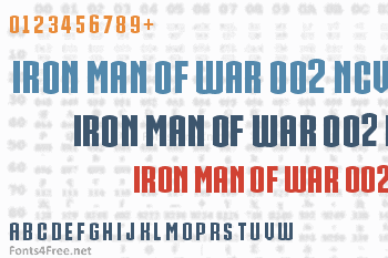 Iron Man Of War 002 NCV Font